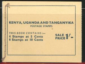 Kenya Uganda and Tanganyika KUT Scott 103 and 104 in booklet 1954