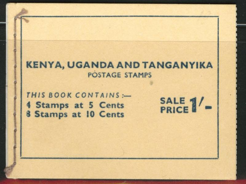 Kenya Uganda and Tanganyika KUT Scott 103 and 104 in booklet 1954
