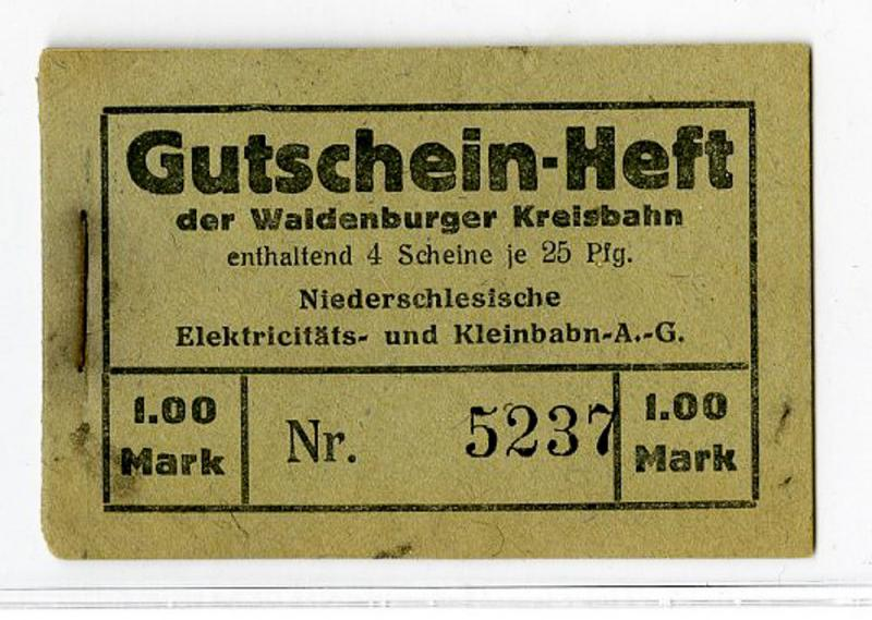 Germany 1914-20s Booklet of 4 25pf Voucher Tickets 1 Mark