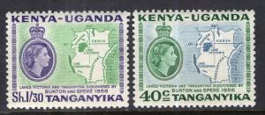 Kenya Uganada Tanganyika 118-119 Maps MNH VF