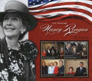 Palau 2016 MNH US First Lady Nancy Reagan Clinton Barack Obama 4v M/S Stamps