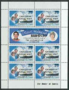 St Vincent - Grenadines 1985 Caribbean Royal Visit opt on...