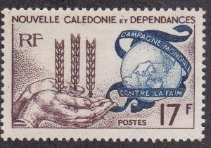 New Caledonia (British) # 323, Freedom from Hunger, NH, 1/2 Cat.