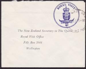NEW ZEALAND 1977 Official cover ROYAL VISIT frank, North East Valley cds...2745