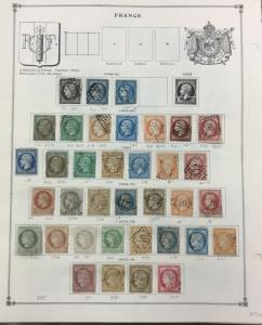 {BJ Stamps} FRANCE Older Collection, 1849-1940, Mint & Used. CV $1098.00+.