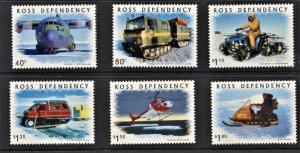 STAMP STATION PERTH Ross Dependency #L61-L66 Transportation Set  MNH CV$14.00
