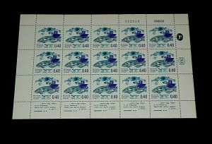 1969, ISRAEL #397,  NOAH'S ARC ISSUE, 0.40, SHEET/15 , MNH, NICE! LQQK!
