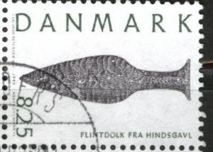 DENMARK  Scott 956 flint knife stamp  1992