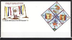 Bhutan, Scott cat. 1432 A-D. Beijing Summer Olympics issue. First day cover. *