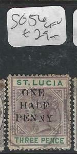 ST LUCIA  (P2705BB)  QV  1/2D/3D  SG 56   VFU