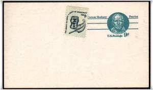 SC#UX70 9¢ Caesar Rodney: Patriot Postal Card Unused*