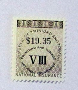 Trinidad & Tobago- MNH, $19.35 Face Value Ins. Revenue Stamp