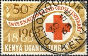 K.U.T. / KENYA - 1963 -  OLJOROOROK  KDC ds on SG206 50c Red Cross Centenary