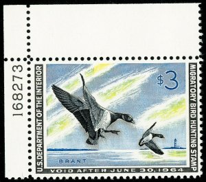 US Stamps # RW30 MNH XF Plate # Choice Duck Scott Value $100.00