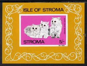 Stroma 1969 Cats imperf m/sheet (5s value showing Orange-...