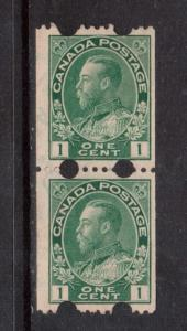 Canada #131iv Rare Used Toronto Experimental Pair **With Certificate**