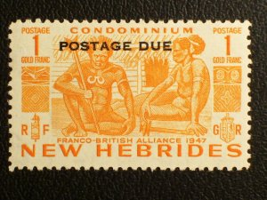 New Hebrides (British) Scott #J15 unused