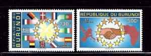 Burundi 698-99 MNH 1993 set