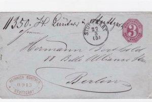 Germany Wurttemburg early  stamps cover R20663
