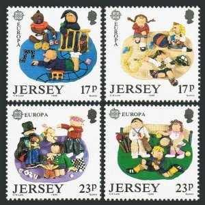 Jersey 511-514,MNH.Michel 476-479. EUROPE CEPT-1989.Children's Games.