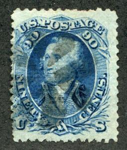 UNITED STATES (US)101 USED, APS CERT.GENUINE,F GRILL, perf crease & nibbed perfs