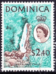 DOMINICA 1963 QEII $2.40 Blue, Turquoise & Brown SG177 MH