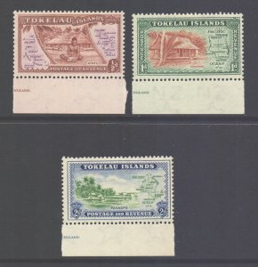 Tokelau Scott 1/3 - SG1/3, 1948 Maps Set MH*