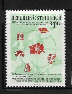 AUSTRIA,612, MINT HINGED, CITY MAPS
