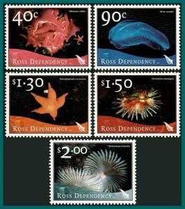 Ross Dependency 2003 Marine Life, MNH L79-L83,SG84-SG88