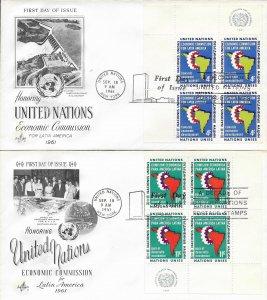 1961 FDC, #93-94 (NY), Economic Commission for Latin America, Art Craft