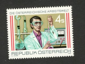 AUSTRIA-MNH STAMP-WORLD OF WORK-1988.