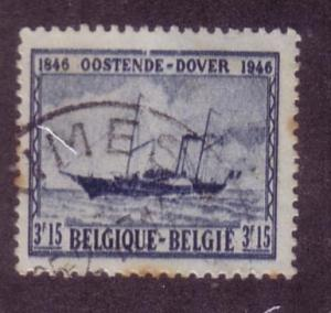 Belgium Sc.# 370 Used Ship stained