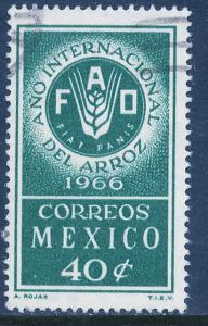 MEXICO 973 FAO, International Rice Year. Used. (296)