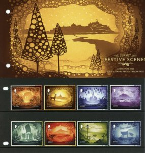 Jersey Christmas Stamps 2020 MNH Festive Scenes Landscapes 8v S/A Pres Pack