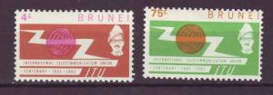 J17279 JLstamps 1965 brunei set mh #116-7 itu