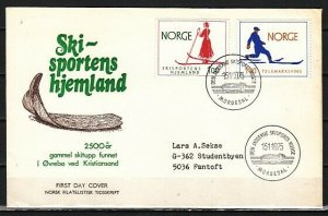 Norway, Scott cat. Homeland of Skiing issue. First day cover. *