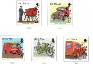 Isle of Man Sc 976-80 2003 Postal Vehicles stamp set used