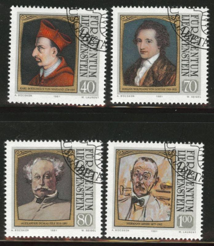 LIECHTENSTEIN Scott 722-725 Used CTO 1981 visitor set