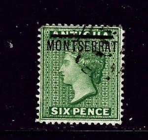 Montserrat #2 MH 1876 issue short perf