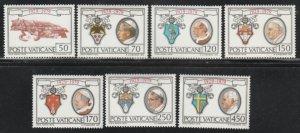 Vatican City #657-663 MNH Full Set of 7