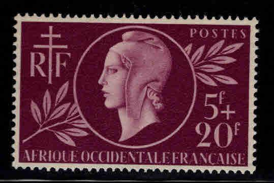 French West Africa Scott B1 MH* FOA  semi-postal stamp