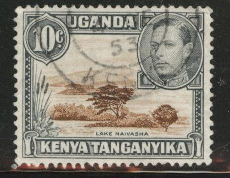 Kenya Uganda and Tanganyika KUT Scott 71 Used perf 13x12.5
