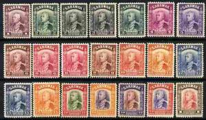 Sarawak 1934-41 Sir Charles Brooke definitive set to $1 (...