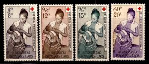 LAOS Scott C31-C34 Red Cross Airmail MNH** Gum Toned with age