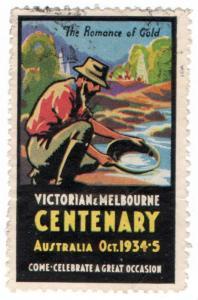 (I.B) Australia Cinderella : Victoria & Melbourne Centenary (Gold)
