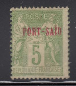 French Offices - Port Said 1899-1900 MH Scott #5 Peace and Commerce