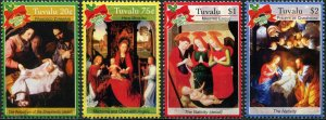 Tuvalu 2007 art paintings Christmas Memling  etc set+s/s MNH