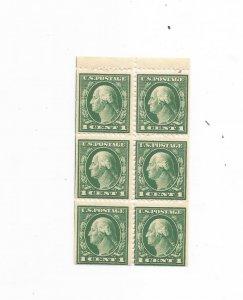 US SCOTT# 498e, FULL BOOKLET PANE,, MNH, OG