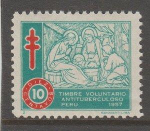 Revenue Fiscal Stamp 12-20-20 Peru mint mnh gum nice