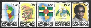 Dominica 602-06   1978  set 5  VF  NH